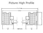 Alpen HPP Picture High Profile Fiberglass Window