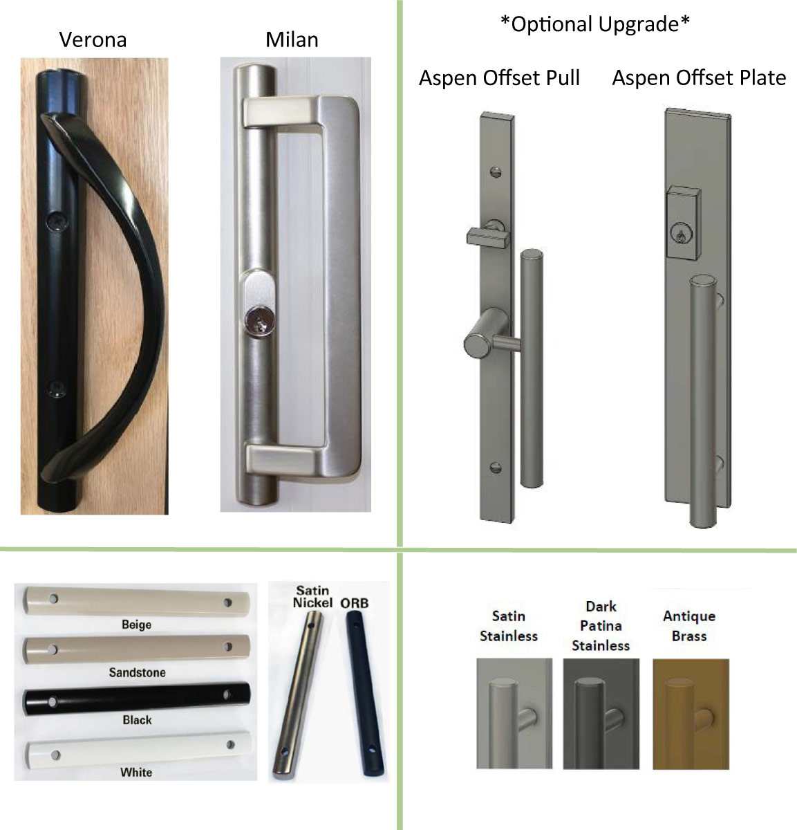 Fiberglass windows sliding patio doors alpen windows for Sliding glass doors hardware